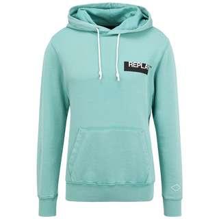 REPLAY mit Label-Print Sweatshirt Herren green water