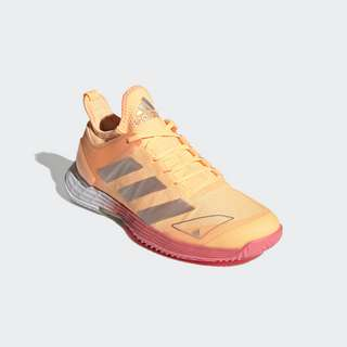 adidas Adizero Ubersonic 4 Tennisschuh Sneaker Damen Acid Orange / Silver Metallic / Hazy Rose