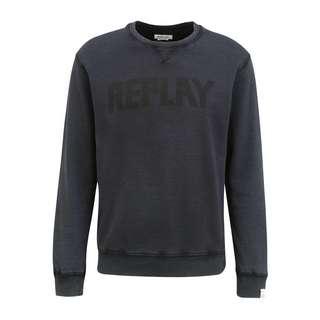 REPLAY mit Label-Print Sweatshirt Herren blackboard