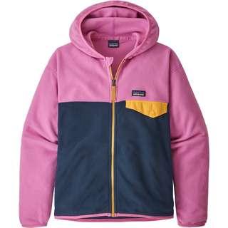 Patagonia MICRO D SNAP-T Fleecejacke Kinder new navy w-marble pink