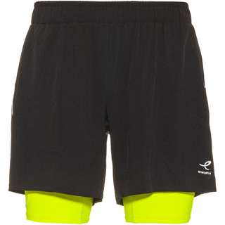 ENERGETICS Striko Laufshorts Herren black-yellow light