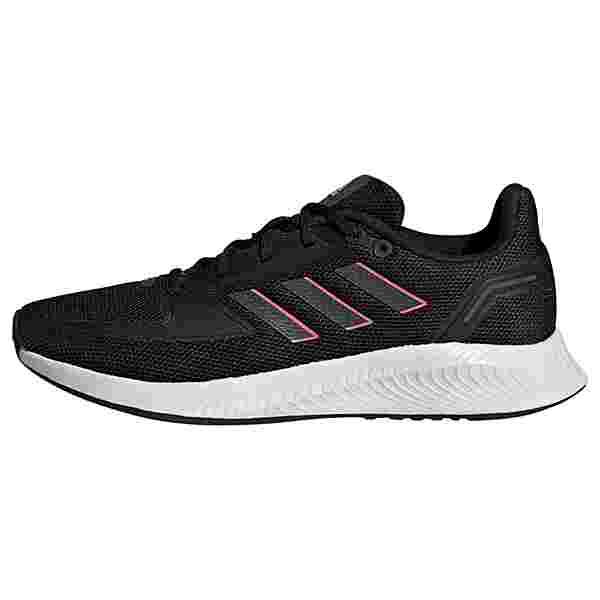 adidas Run Falcon 2.0 Laufschuh Laufschuhe Damen Core Black / Grey Six / Screaming Pink