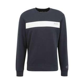REPLAY mit Kontrast-Print Sweatshirt Herren dark blue..