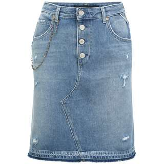 REPLAY mit Kettchen Jeansrock Damen medium blue