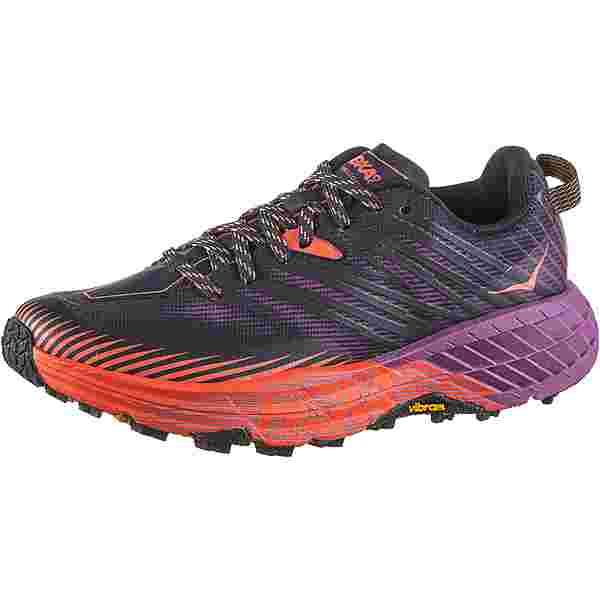 Hoka One One SPEEDGOAT 4 Trailrunning Schuhe Damen outer space-hot coral