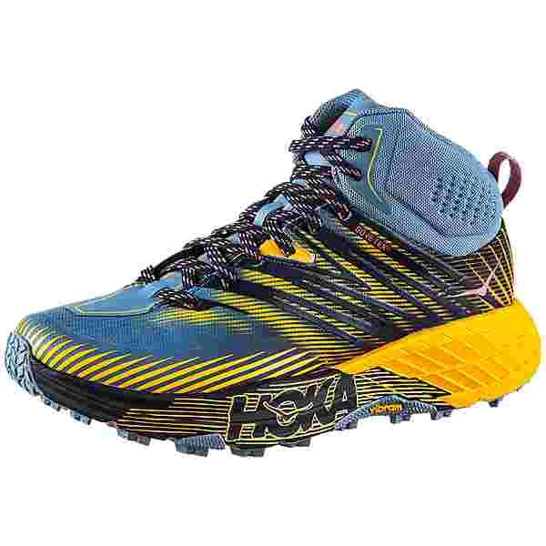 Hoka One One GTX SPEEDGOAT MID 2 Trailrunning Schuhe Damen provincial blue-saffron