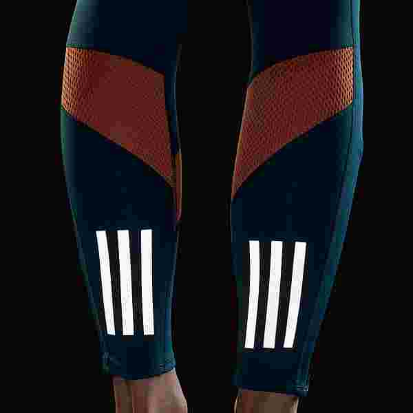 adidas Own the Run Tight Tights Damen Wild Teal / Hazy Copper