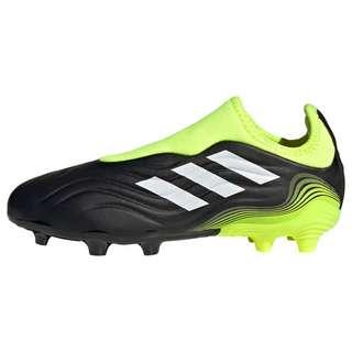 adidas Copa Sense.3 Laceless FG Fußballschuh Fußballschuhe Kinder Core Black / Cloud White / Solar Yellow