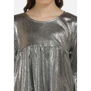MYMO T-Shirt Damen Silber