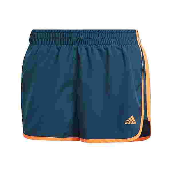 adidas Marathon 20 Shorts Funktionsshorts Damen Wild Teal / Screaming Orange