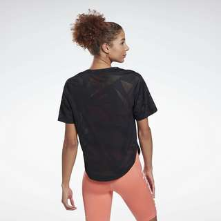 Reebok Perforated T-Shirt Funktionsshirt Damen Schwarz