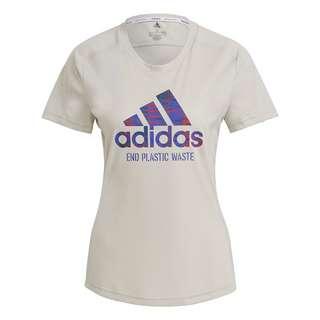 adidas Run for the Oceans Graphic T-Shirt T-Shirt Damen Beige