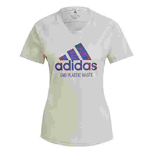 adidas Run for the Oceans Graphic T-Shirt T-Shirt Damen Beige