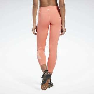 Reebok Workout Ready Vector Leggings Tights Damen Rot