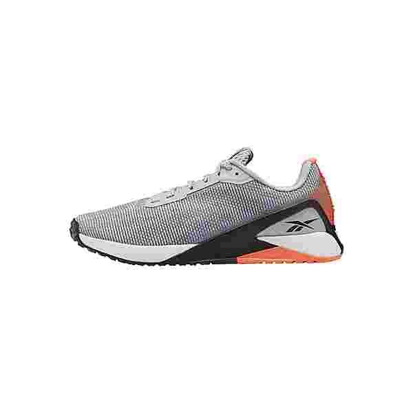 Reebok Nano X1 Grit Shoes Fitnessschuhe Damen Cold Grey 2 / Core Black / Orange Flare
