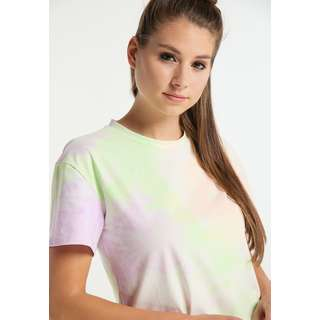 MYMO Printshirt Damen Orange Grün Flieder
