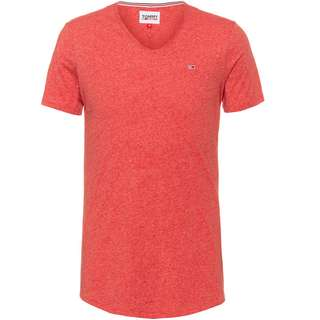 Tommy Hilfiger Jaspe V-Shirt Herren deep crimson