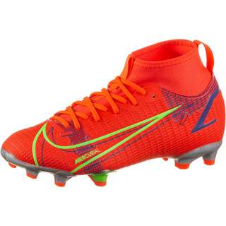 Nike JR MERCURIAL SUPERFLY 8 ACADEMY FG/MG Fußballschuhe Kinder bright crimson-metallic silver