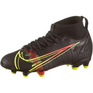 Nike JR MERCURIAL SUPERFLY 8 ACADEMY FG/MG Fußballschuhe Kinder black-cyber-off noir-rage green
