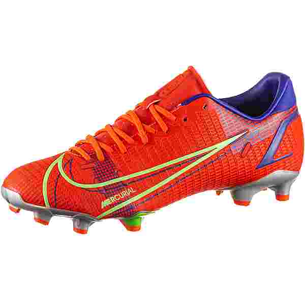 Nike MERCURIAL VAPOR 14 ACADEMY FG/MG Fußballschuhe bright crimson-metallic silver