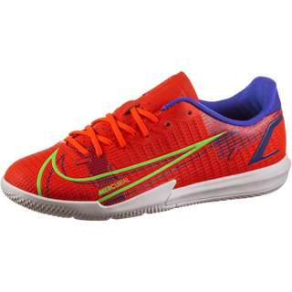 Nike JR MERCURIAL VAPOR 14 ACADEMY IC Fußballschuhe Kinder bright crimson-metallic silver