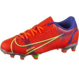 Nike JR MERCURIAL VAPOR 14 ACADEMY FG/MG Fußballschuhe Kinder bright crimson-metallic silver