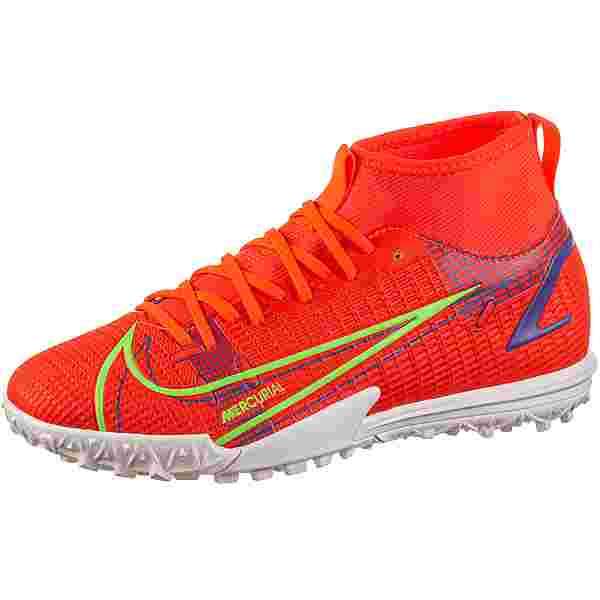 Nike JR MERCURIAL SUPERFLY 8 ACADEMY TF Fußballschuhe Kinder bright crimson-metallic silver