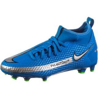 Nike Jr. Phantom GT Academy DF MG Fußballschuhe Kinder photo blue-metallic silver-rage green