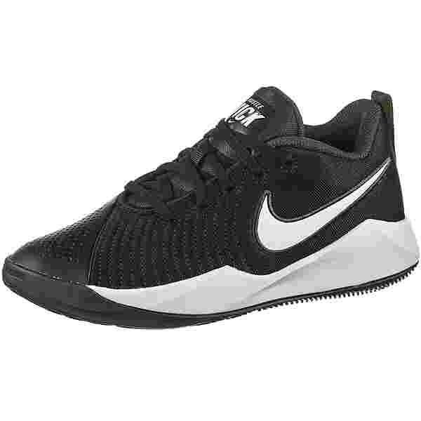Nike Team Hustle Quick 2 Sneaker Kinder black-white-anthracite-volt
