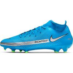 Nike Phantom GT Academy DF FG/MG Fußballschuhe photo blue-metallic silver-rage green