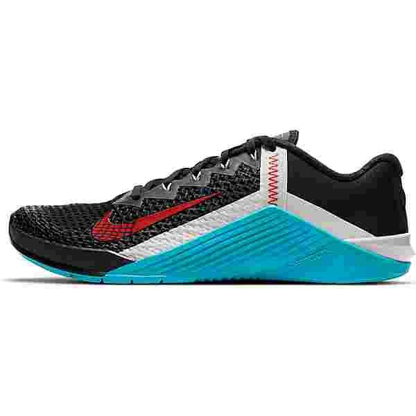 Nike METCON 6 Fitnessschuhe Herren black-univ red-lt blue fury-lt bone-lt smoke grey