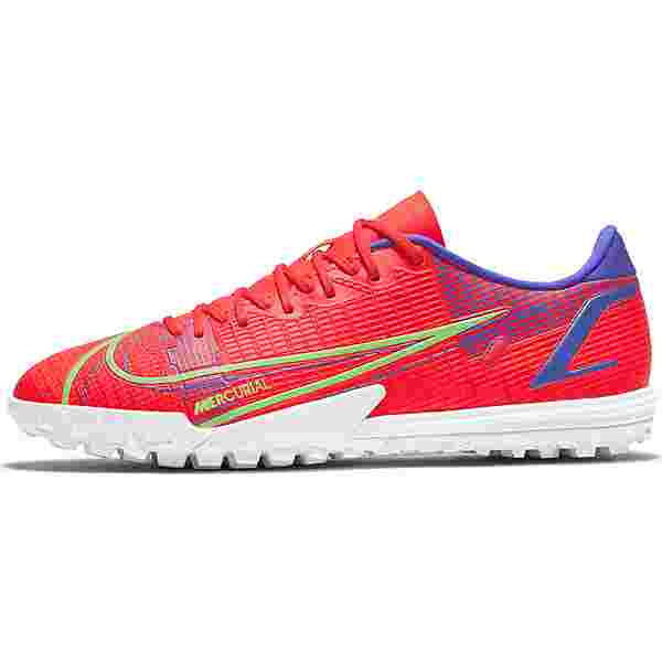 Nike MERCURIAL VAPOR 14 ACADEMY TF Fußballschuhe bright crimson-metallic silver