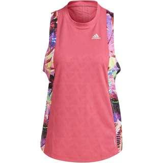 adidas FLORAL RESPONSE AEROREADY Funktionstank Damen wild pink