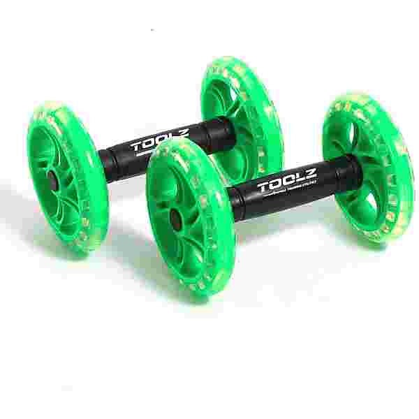 TOOLZ Exercise Wheel Dual Fitnessgerät grün