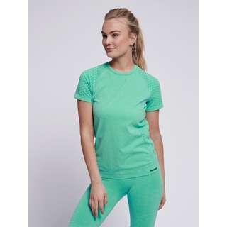 hummel T-Shirt Damen ICE GREEN MELANGE