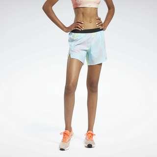 Reebok Run Essentials Allover Print Shorts Funktionsshorts Damen Blau