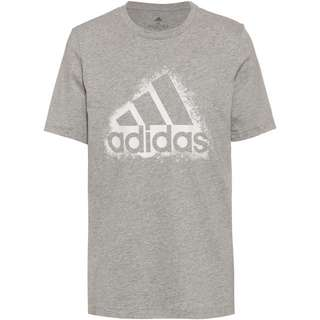 adidas Essentials T-Shirt Herren medium grey heather-white