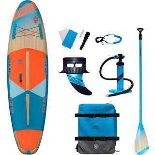 FIREFLY SUP-Board iSUP 300 COM SUP Sets wood-orangedark/blue