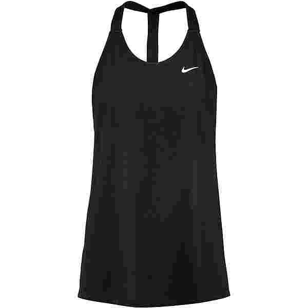 Nike DRI-FIT ESSENTIAL ELASTIKA Funktionstank Damen black-white