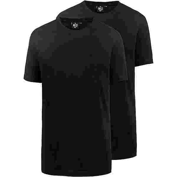 WLD Shirt Doppelpack Herren black