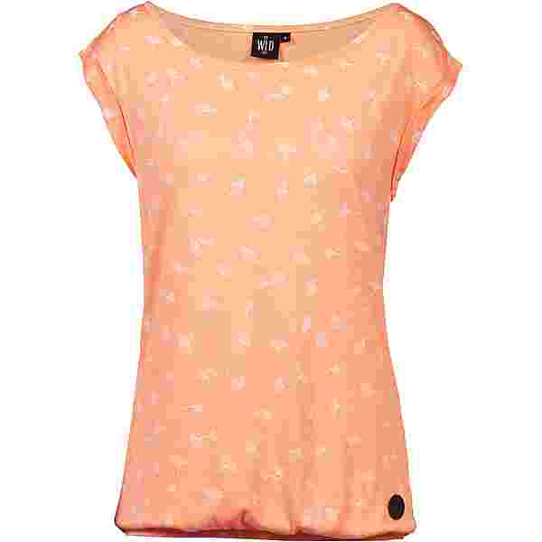 WLD Feel your Soul T-Shirt Damen apricot melange