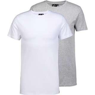 WLD Shirt Doppelpack Herren grey melange and white