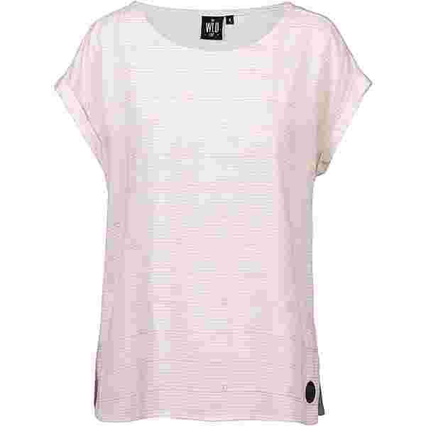 WLD Wine of Love T-Shirt Damen rose stripes