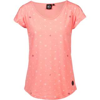 WLD Wait for me T-Shirt Damen coral