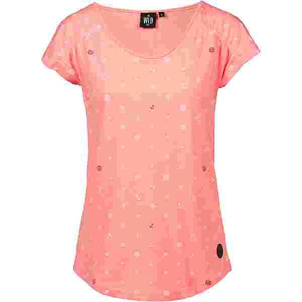 WLD Wait for me T-Shirt Damen coral
