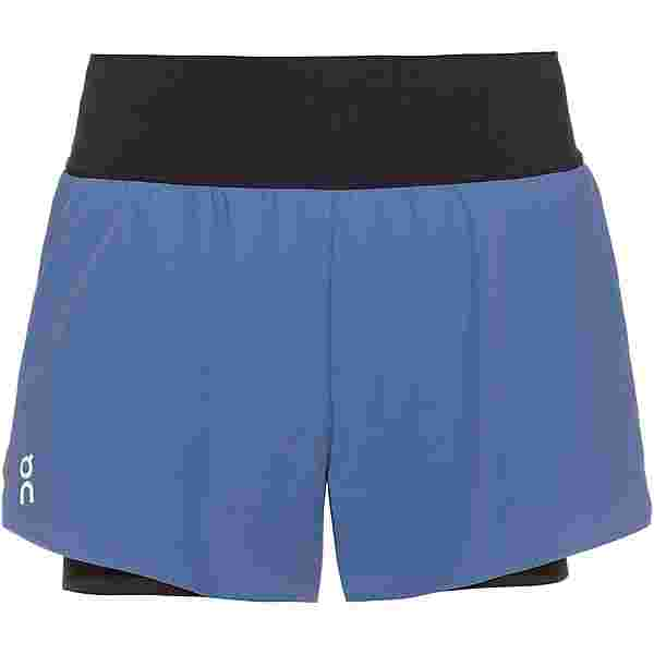 ON Funktionsshorts Damen cerulean-black