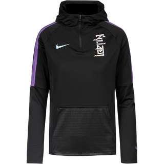 Nike Kylian Mbappe Hoodie Kinder black-fierce purple-hologram