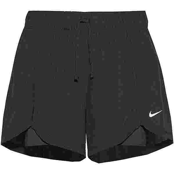 Nike FLEX ESSENTIAL 2-IN-1 Funktionsshorts Damen black-black-white
