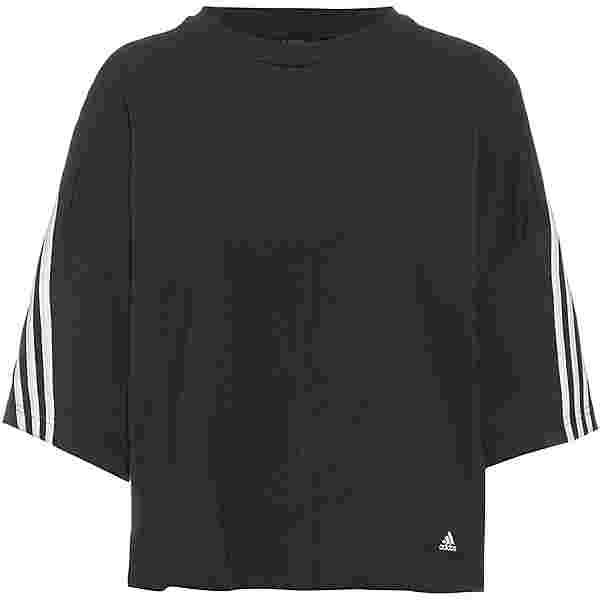 adidas 3-STRIPES SPORT MUST HAVES ENHANCED T-Shirt Damen black-white