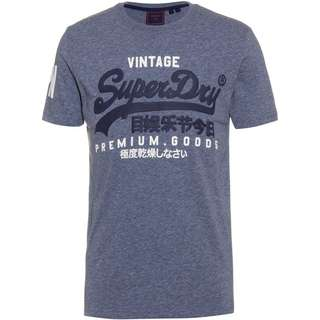 Superdry T-Shirt Herren tois blue heather